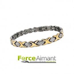 Bracelet magnétique Feuille