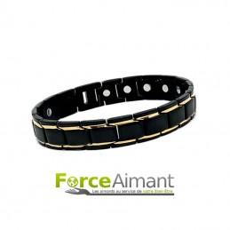 Bracelet bicolore magnétique