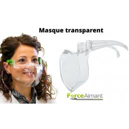 Masque transparent et...