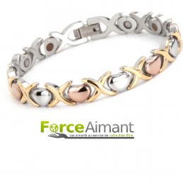 Bracelet magnétique coeur 3...